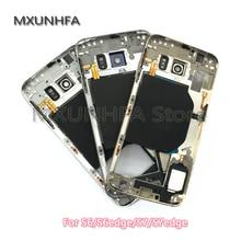 10 قطعة/الوحدة الإطار الأوسط لسامسونج غالاكسي S6 S7 حافة G930 G935 G920 G925 منتصف معدنيا لوحة الإسكان الهيكل حالة