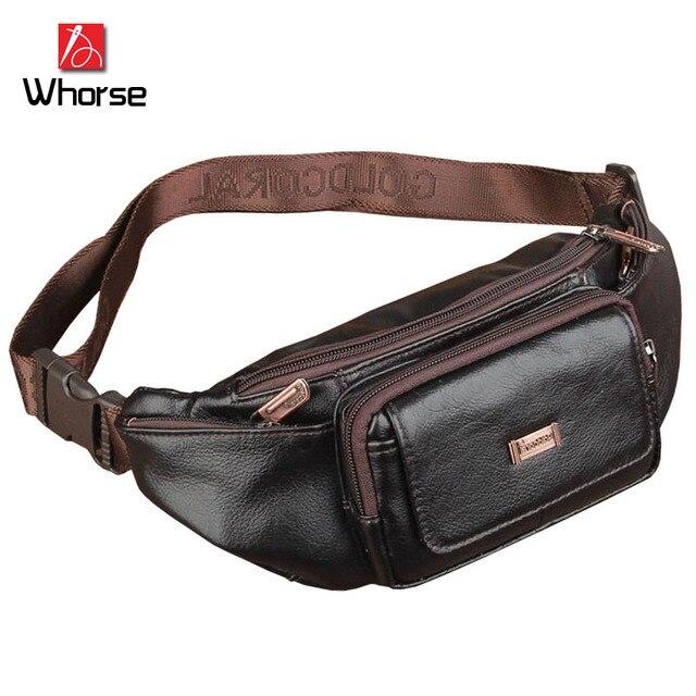 Logotipo de la marca! nuevo Multifuncional de Cuero Genuino Bolso de La Correa Paquete de La Cintura Para Los Hombres de Las Mujeres Bolsas de Viaje Bolsa de Dinero WA78305