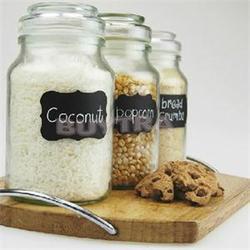 3 folhas/36 Pcs PVC Blackboard Etiqueta Kitchen Craft Adesivos para Organizador Jar Pode Etiquetas Quadro Home Decor
