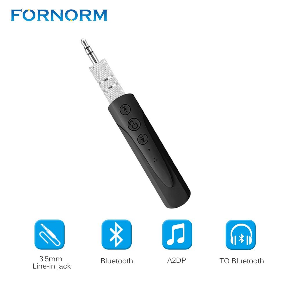 Fornorm Drahtlose Bluetooth Audio Receiver Hands Free 3,5mm Aux Für Auto Musik Streaming Sound Car Kit Lautsprecher Kopfhörer Unterhaltungselektronik