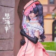 Anime negro mayordomo Ciel Phantomhive Cosplay Kuroshitsuji señora Lolita  Maid vestidos disfraces Cosplay uniforme 6bb7e99bd6d0