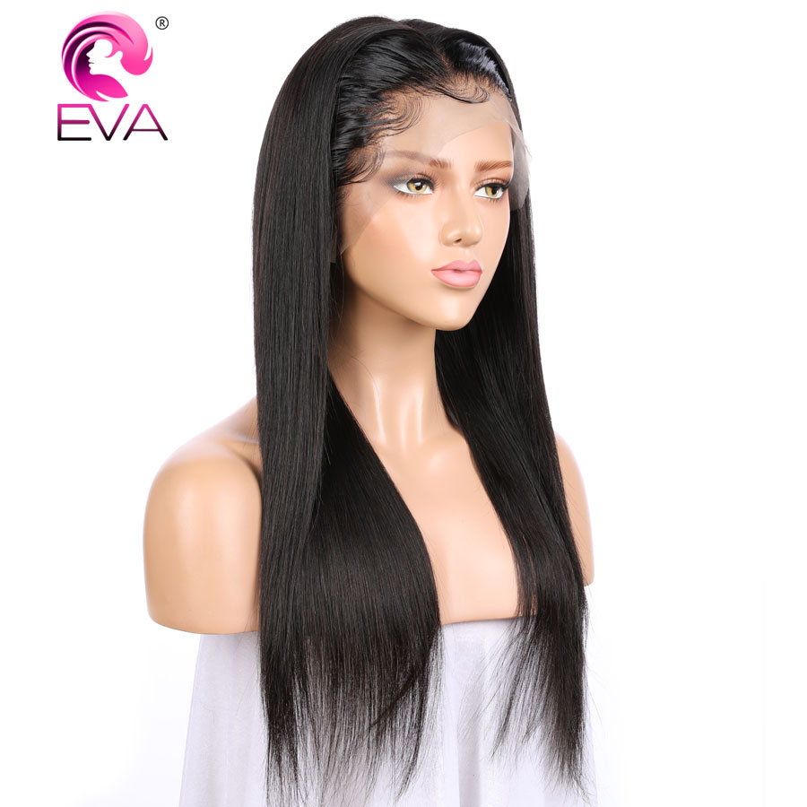 Image 3 - Eva Hair 13x6 Lace Front Human Hair Wigs For Black Women Brazilian Remy Hair Straight Lace Front Wigs Pre Plucked With Baby Hair-in Human Hair Lace Wigs from Hair Extensions & Wigs