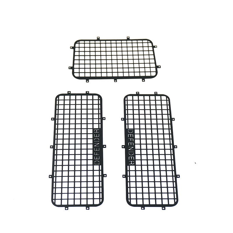 1Set TRX4 Upgrade Parts Metal Window Mesh Protective Net for 1/10 RC Crawler Car Traxxas Trx-4 Trx 4 Black & Silver