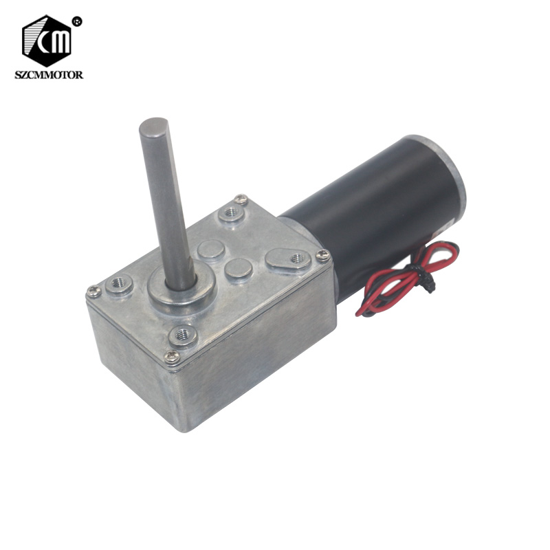 DC12V 24V Strong Torque Worm Gearbox Reduction Reversed Type D Long Shaft High Power Worm Gear Motor Curtain Motor 5840 31zy