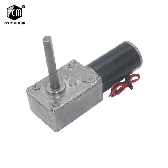 Engranaje de tornillo sin fin DC12V 24V, engranaje de tornillo sin fin, reducción invertida tipo D Eje largo, engranaje de tornillo sin fin, Motor de cortina, 5840 31zy