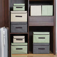 clothes Storage Box With Cap Clothes Socks Toy Snacks Sundries Oraganier Cosmetics Household clothes storage box Bins/organizer