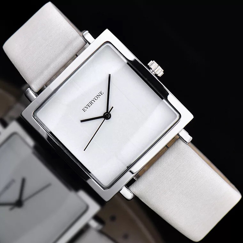 2018 New Genuine Leather Quartz Watch Lady Watches Women Luxury Antique Stylish Square Dress Watch Relogio Feminino Montre Femme brand children coat jackets stripe cute rabbit ears hooded wool coats for girl kids double breasted woolen jacket infant outwear