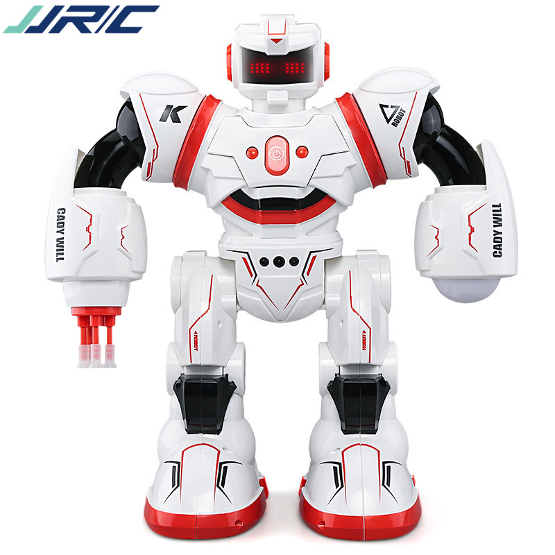 JJRC K1 scintillation music Cady Will intelligent remote control robot induction to war belt light music children puzzle toys diy assembly puzzle metal intelligent control robot children educational toys