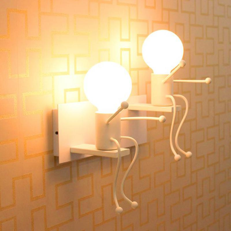 Lilliput modern led doll wall lamp luminaire for children room lilliput modern led doll wall lamp luminaire for children room bedroom study reading lamp wall lights sconce bathroom cafe light in wall lamps from lights aloadofball Image collections