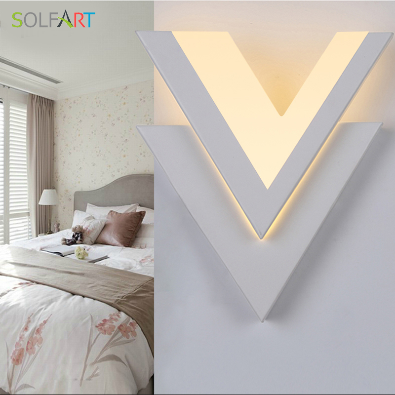 SOLFART modern led sconce wall lights for bedroom  acrylic shade led small bedside corridor entrance bright wall lamp MB5008 vemma acrylic minimalist modern led ceiling lamps kitchen bathroom bedroom balcony corridor lamp lighting study
