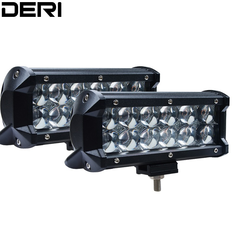 2pcs 7inch 36W 5D LED Work Light Bar Lamp kit for Off Road Motorcycle Tractor Boat 4WD 4x4 Truck SUV ATV Spot Flood Beam 12V 24V image