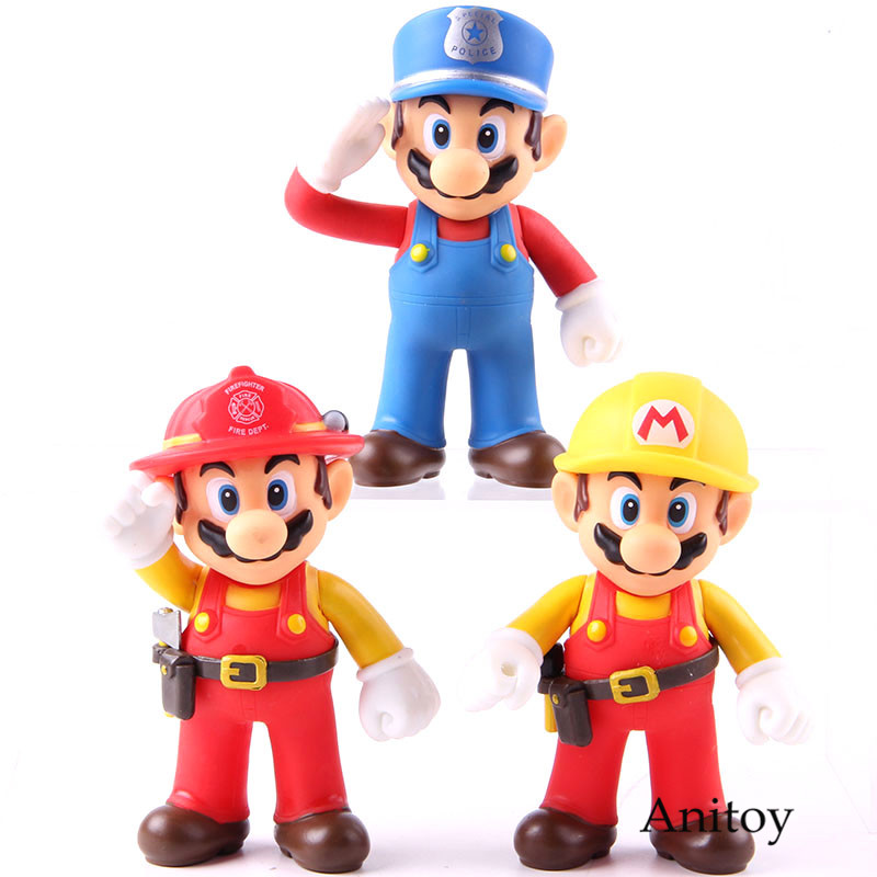 Super Mario Action Figure The Worker Super Size Figure Collection Model Toy