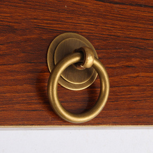 Drawer handle,Pure copper manufacturing,Circle shape,Chinese style,Old Furniture Wardrobe Cabinet Door Pull Ring цена