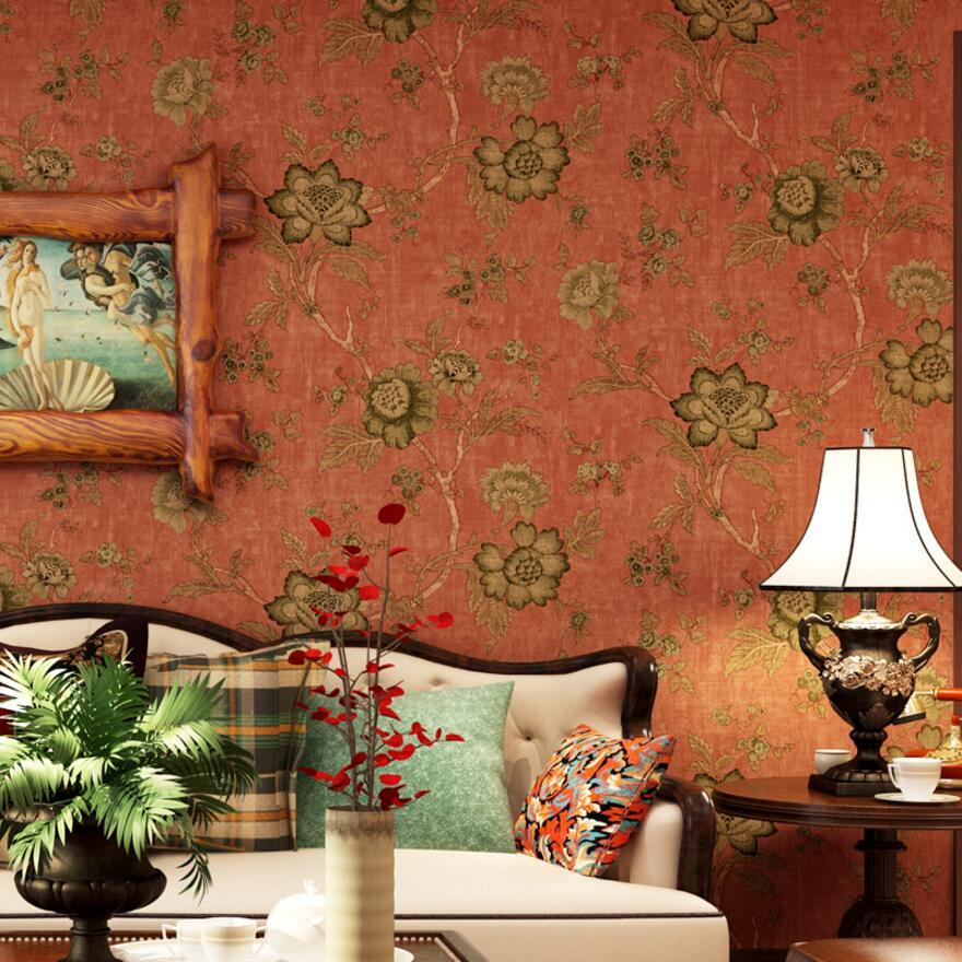 Retro american pastoral woven wallpaper warm living room bedroom bedside tv background wall rustic wallpaper beibehang american pastoral three dimensional small tree non woven wallpaper living room tv sofa background bedroom bedside