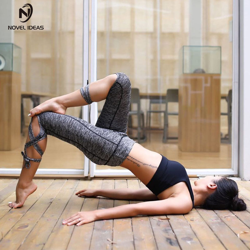 2018 Women Ballerina Yoga Pants Sport Leggings High Waist Fitness Cross Yoga Ballet Dance Tight Bandage Cropped Pants Sports
