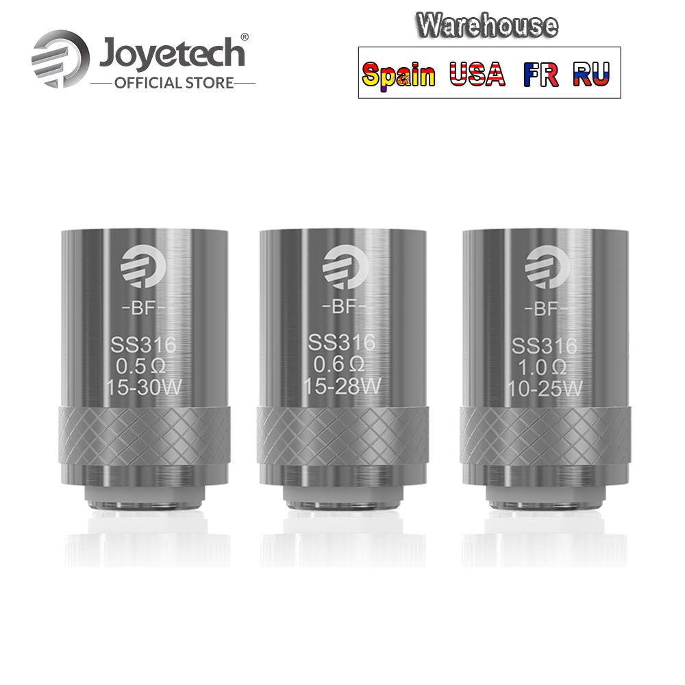 [RU/EUA/FR/ES] Original Joyetech BF SS316 Cabeça 0.5ohm/0.6ohm/1.0ohm Substituição bobina Para CUBIS/eGO AIO/Cubóide Mini E-Cig