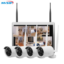 New arrival 4ch Outdoor Day night security camera system 960P Real WiFi wireless NVR kit with 12.5 inch LCD Screen