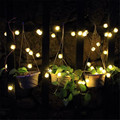 Lighting String 4.8M 20 LEDs Solar Power Snowball Garlands Garden Party Christmas Light l7106