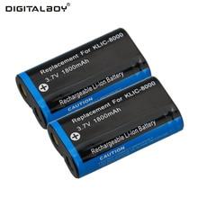 Cheaper Hot Sale 1800mAh 2PCS KLIC-8000 KLIC 8000 KLIC8000 Rechargeable Li ion Battery for KODAK Z612 Z712 Z812 IS Digital Camera