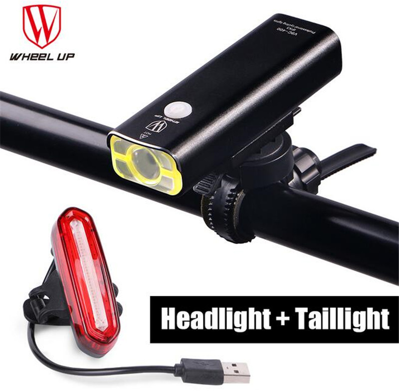 WHEEL UP New Arrival Bike Torch MTB Road Bicycle Lamp Usb Chargeable Led Front Light Tail Light Set Taillight Rear Light