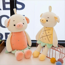 New Style Fruit Pig Rabbit Short Plush Toy Stuffed Animal Soft Plush Doll Children Birthday Gift стоимость