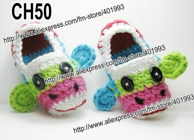 36pairslot Mary Janes Slippers Baby Crochet Shoes Crochet Cotton