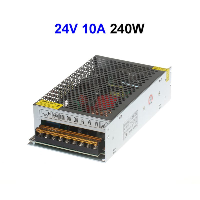 5pcs DC24V 10A 240W Switching Power Supply For LED Display LED Controller CCTV Security Cameras LCD Monitor 5pcs dc power female barrel to male barrel connector cable for cctv or led light controller 5 meter 5 5 x 2 1mm