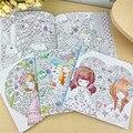 100 páginas hermosa niña Antistress libros para colorear para adultos niños aliviar el estrés jardín secreto libro de pintura