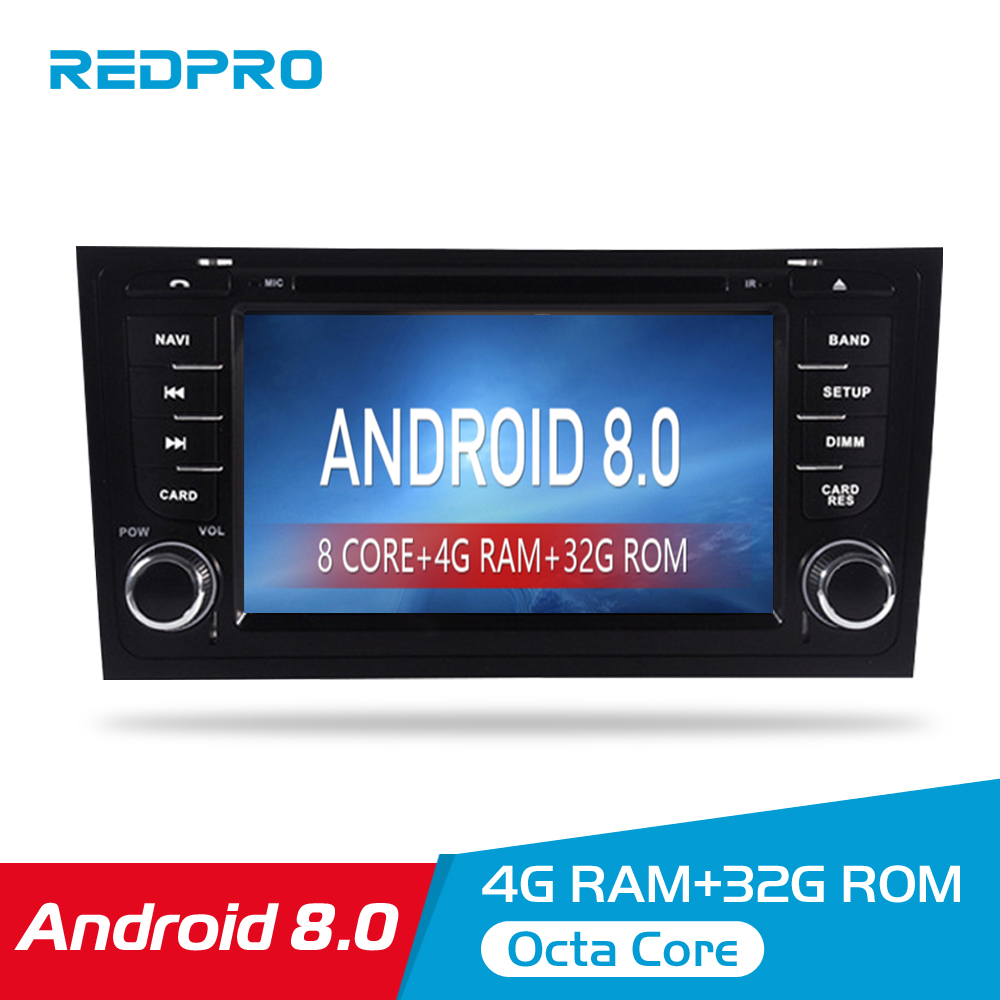 Autoradio 4G RAM Android 8 0 Car DVD Player For AUDI A6 S6 RS6 1997 Stereo