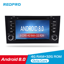 Autoradio 4G RAM Android 8.0 Car DVD Player For AUDI A6 S6 RS6 1997+ Stereo 2 Din audio radio GPS Navigation FM WiFi Multimedia недорого