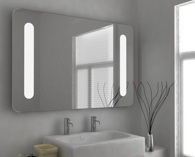 LED Illuminated Bathroom Mirror Demister Foggless Shower