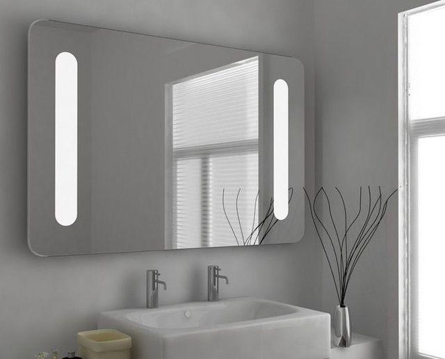 LED Verlichte Badkamer Spiegel Voorruitverluchting foggless douche ...