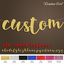 Custom Glitter Party One Line Banner,Personalized Birthday/Anniversary/Bachelorette/Bridal Shower Decorations Supplies