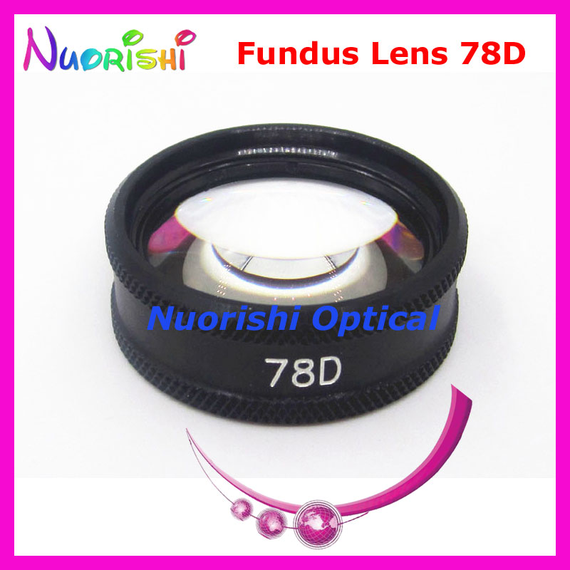78D As Good As Volk Lens ! Ophthalmic Aspheric Fundus Slit Lamp Contact Glass Lens Black Leather Metal Case Packed Free Shipping