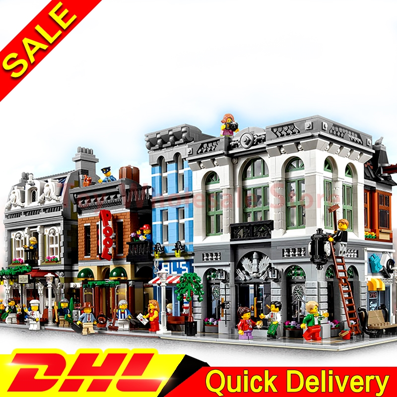 LEPIN 15001 Brick Bank LEPIN 15010 Parisian Restaurant LEPIN 15011 Detectives Office Model Building Street Sight Blocks Bricks