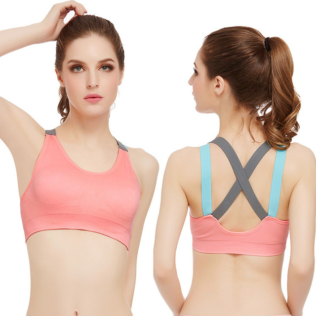 32ad32e6f4022 New Women Yoga Bra Sports Bra for Female Running Gym Fitness Athletic Bras  Padded Push Up Tank Tops For Girl Clothes Sports Bras