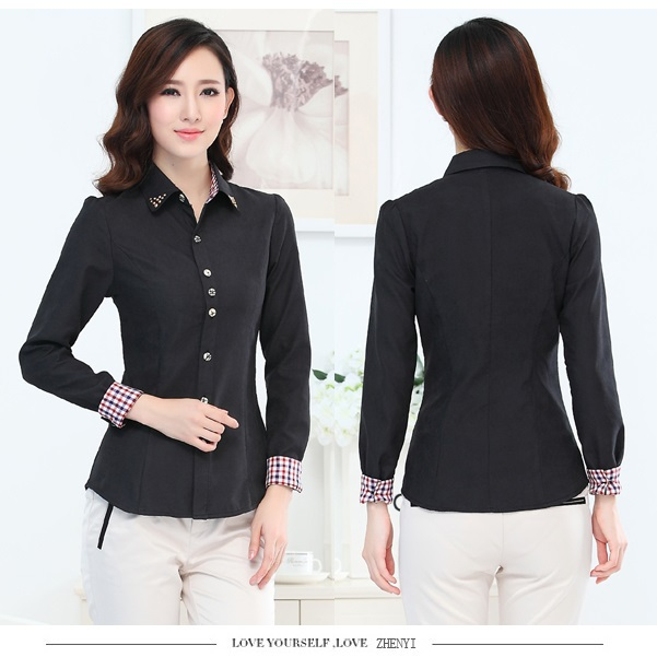 Aliexpress.com : Buy New 2015 Spring Autumn Formal Black Shirts ...