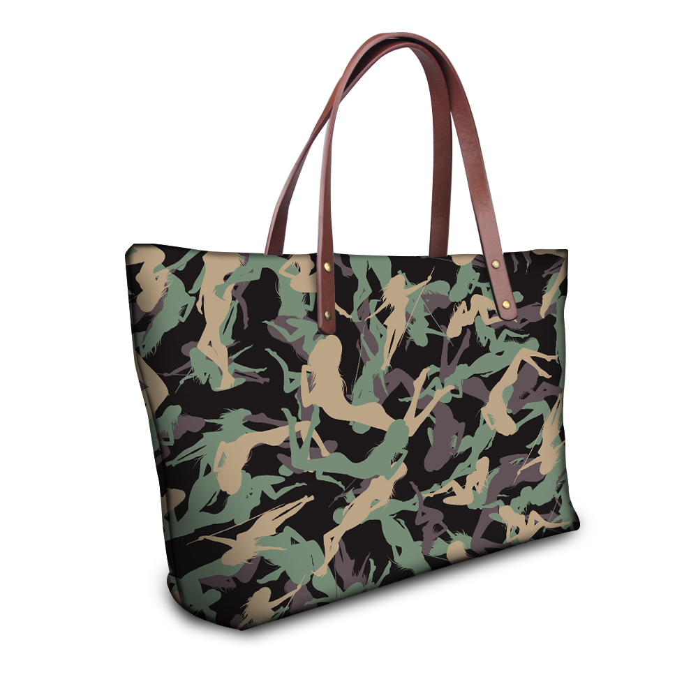 Camouflage Printed Women Casual Tote Bag Fashion Women s Shopping Bag Large  Capacity Handbag Shoulder Bag for Ladies Bolsa Mujer-in Top-Handle Bags  from ... 4b943a0443