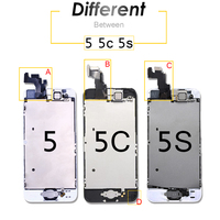 replacement home button Full Set LCD for iPhone 5s 5c Screen Complete Assembly Display SE Digitizer Replacement moudle 6 With Front Camera Home Button (5)
