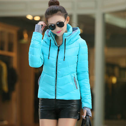 Desgaste neve jaqueta amassado feminino jaqueta 2016 primavera e no inverno as mulheres short slim-algodão acolchoado jaqueta outerwear casaco de inverno mulheres