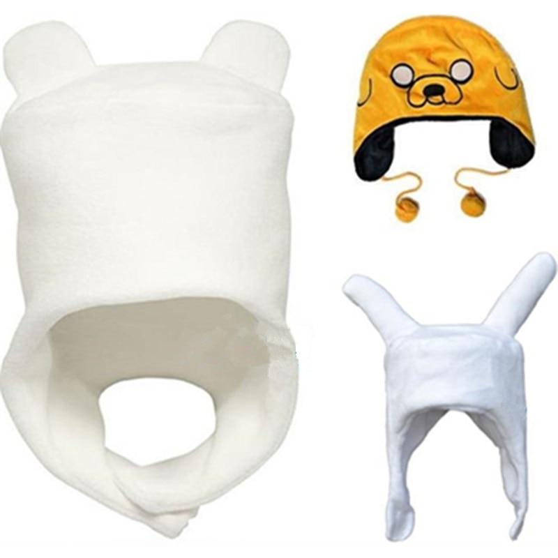 Adventure Finn Jake / Fionna Soft Plush Hat Cap Cartoon Movie & TV Cosplay Hat Winter Warm Cap Fit For Adult & Children Beanies