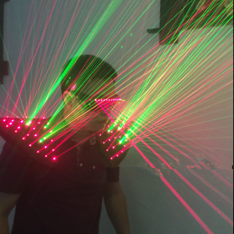 Red Green Color Laser Man Vest Bar Party Props Waistcoat Costumes Performing Luminous Illuminated dancing laser Show Clothing