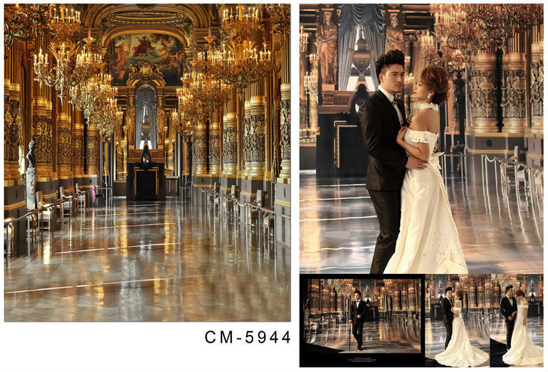 Thin Vinyl Photography Background Computer Printed: 5X7ft Crown Palace Wedding Backgrounds For Photo Studio