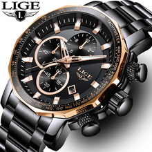 цены Reloj Hombre 2019 LIGE New Sport Men Watches Top Brand Luxury Quartz Full Steel Male Watch Military Waterproof Chronograph Clock
