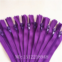 50pcs ( 12 Inch ) 30cm Deep Purple Nylon Coil Zippers Tailor Sewer Craft Crafter's &FGDQRS #3 Closed End