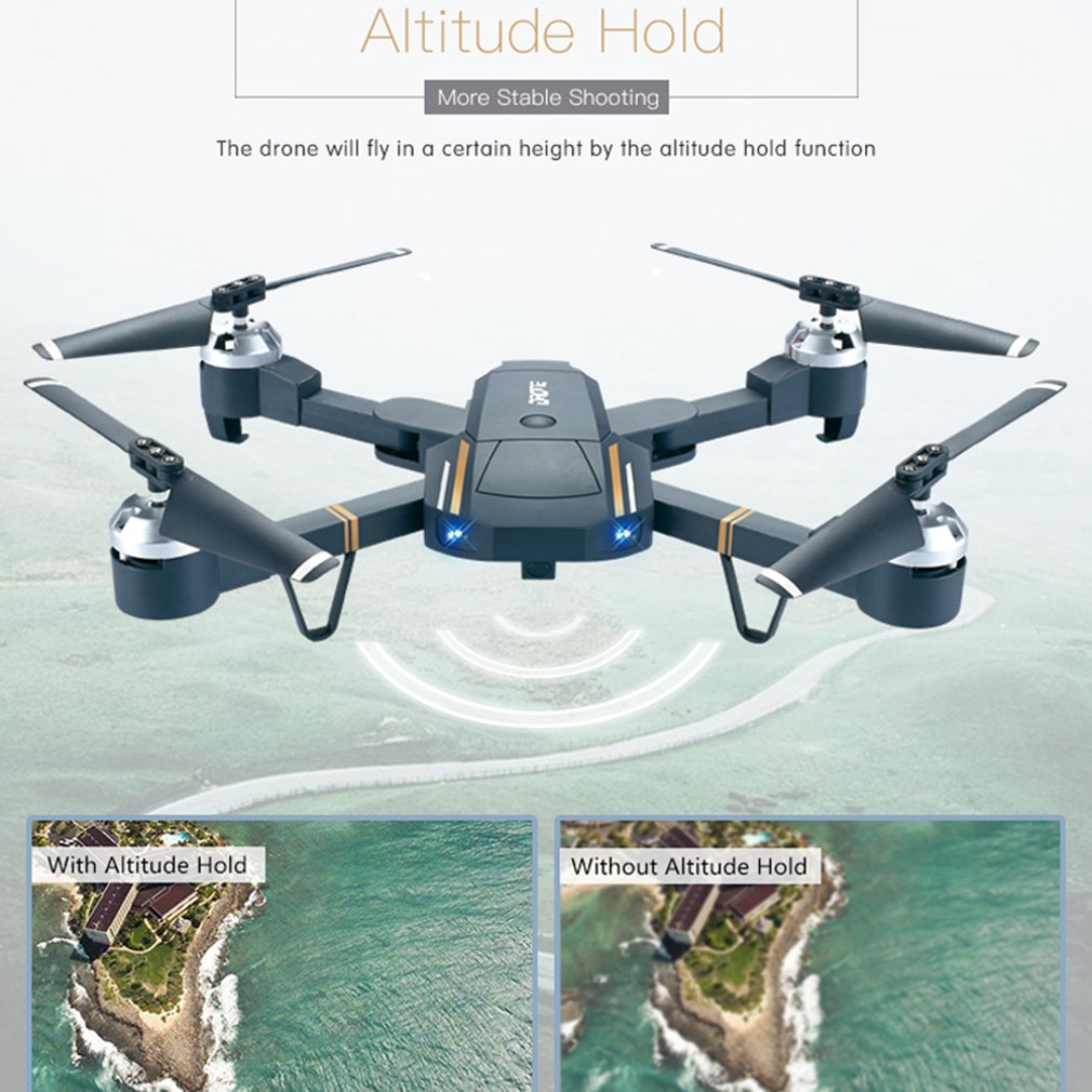 lowest price GW58 Mini Drone Wifi FPV 2 4ghz RC Drone with 640p 720p HD Camera dron Real Time Aerial Video Foldable RC Quadrocopter drones