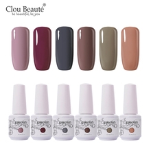 Clou Beaute 6pcs Painting Gel Polish Set Nail Gel 8ml Semi Permanent UV LED Enamel Soak Off Hybrid Nail Polish Gel Nail Polish modelones 3pcs lot gel nail polish set kit semi permanent uv purple nail polish nail art soak off led uv nail salon set