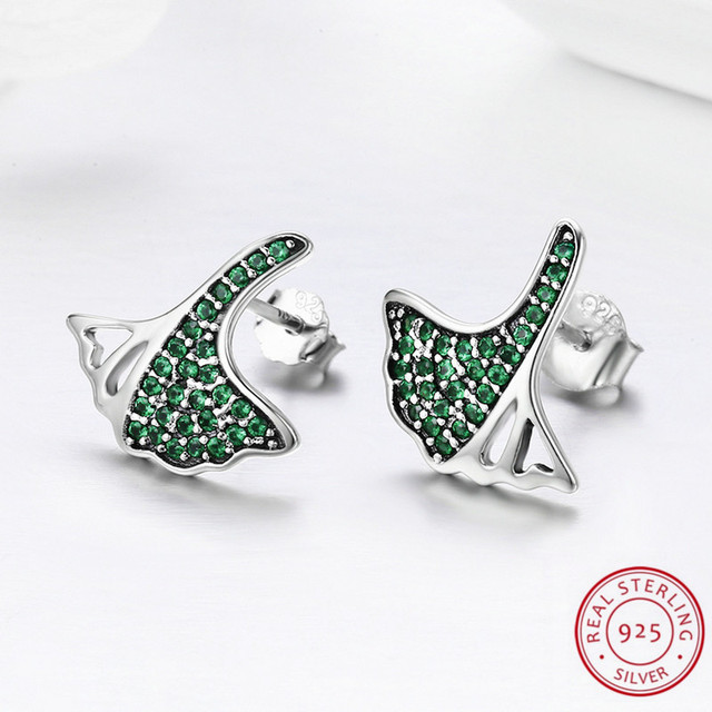 925 Sterling Silver Earring Exquisite Spring Green Flower Earrings for Women Fashion Silver Jewelry Elegant Beautiful Life
