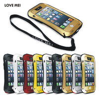 LOVE MEI Brand Small Waist Aluminum Metal Case Cover For Apple IPhone 5 5S SE Powerful