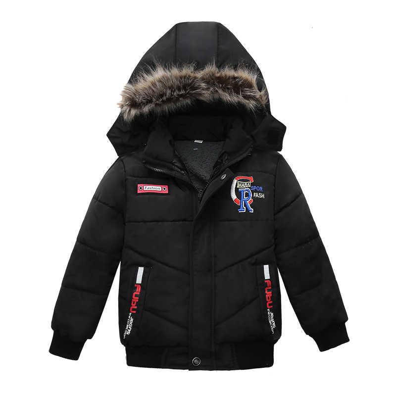 Baby Jongen Jas 2019 Herfst Winter Jassen Voor Jongens Jas Kinderen Jas Kinderen Hooded Warme Katoen Bovenkleding Jas Voor Jongens kleding